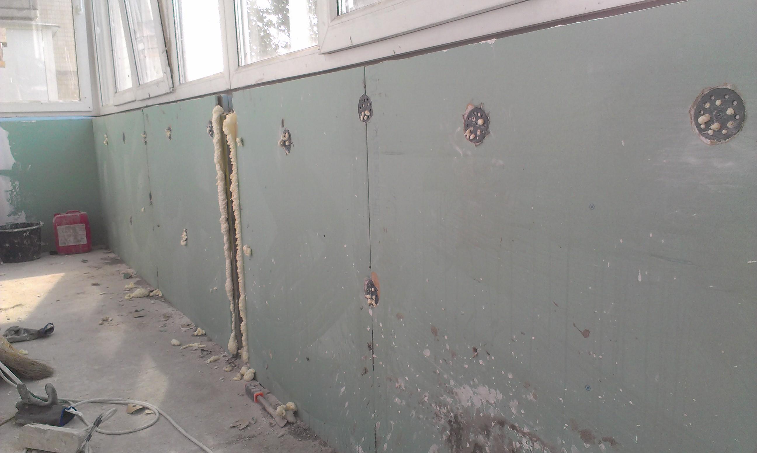 Пример капитального ремонта балкона в панельном доме (утепле.